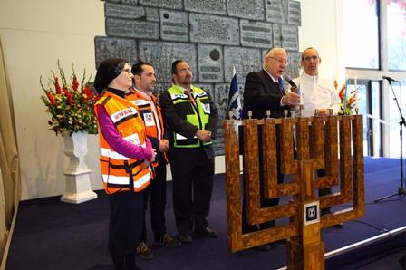 נשיא המדינה הוקיר תודה לארגוני החירום וההצלה