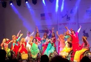 להקת AXIS במופע המרכזי במתנס גני אביב בלוד בשילוב אנשים עם מוגבלויות.צילום דוברות עיריית לוד