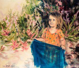 שקד אביב בתערוכה חדשה במסלול לאמנות Girl with a handkerchief