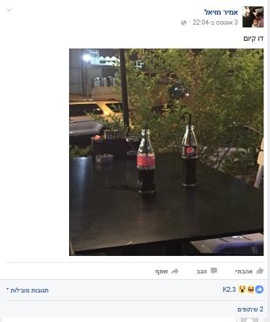 2,300 לייקים. צילום: פייסבוק.