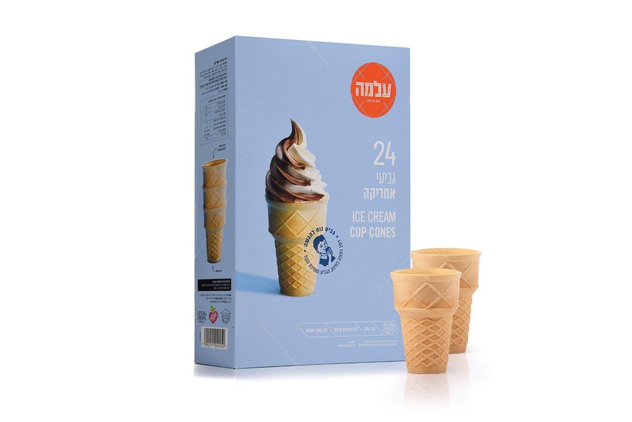 """""""עלמה"""" משיקה גביעי גלידה לשימוש ביתי בעיצוב חדש"""