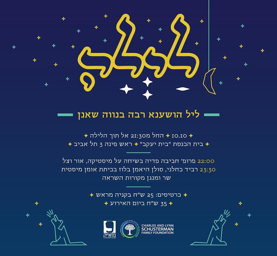 """לראשונה- ליל הושענא רבה בבית הכנסת הדמשקאי """"בית יעקב"""" שבנווה שאנן"""