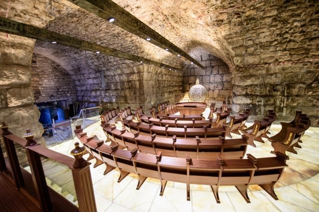 זה אלי ואנווהו: בית כנסת חדש נחנך במנהרות הכותל המערבי
