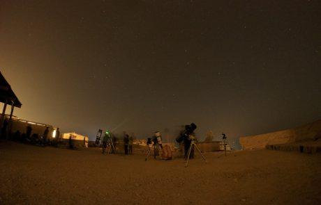המלצת תרבוש:חגיגת כוכבים ומטאורים על מצוק מכתש רמון