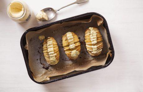 המותג מאסטר שף מציע: מניפות תפוחי אדמה עם מיונז הולנדי מתובל